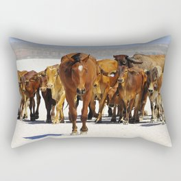 Pony leading the mob home Rectangular Pillow