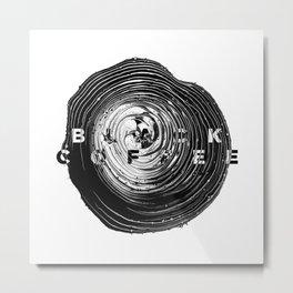 Black Coffee Abstract Art Metal Print