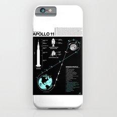 Apollo 11 Mission Diagram iPhone 6 Slim Case