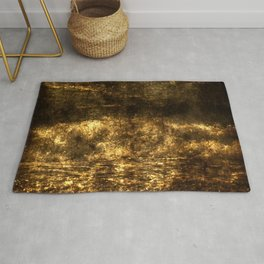 Loving the Waves series - Gold 1 Rug