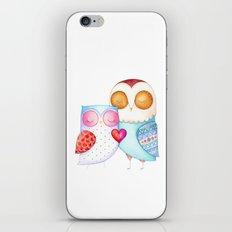 Love Birds - One Heart - Owl Couple iPhone & iPod Skin