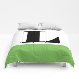 Monogram Letter L (color block) Comforters