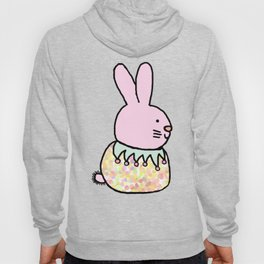 Cute Pink Rabbit - a bunny for spring and Easter Hoody