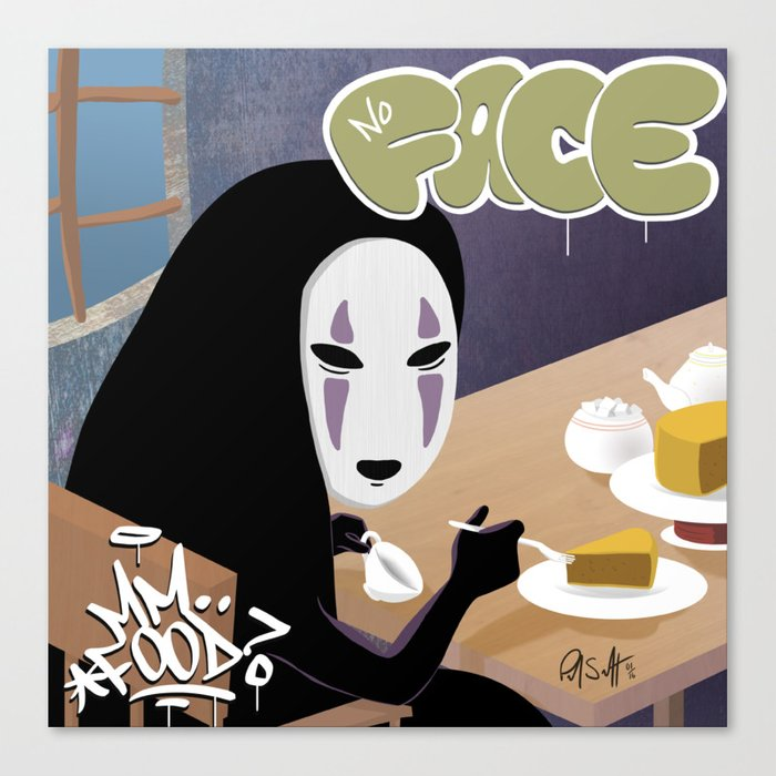 No Face Mm.. Food (MF Doom + Spirited Away) Leinwanddruck