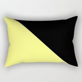 two-tone, black, yellow, double, triangle. Rectangular Pillow