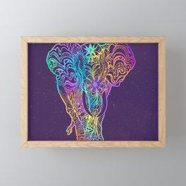 Magical mystery elephant Framed Mini Art Print
