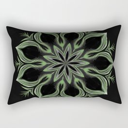 Alien Mandala Swirl Rectangular Pillow