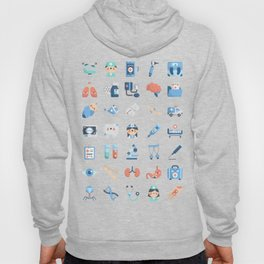 CUTE MEDICINE / SCIENCE / DOCTOR PATTERN Hoody