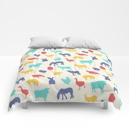 Best animal silhouette pattern design Comforters