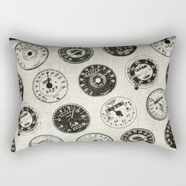 Vintage Motorcycle Speedometers Rectangular Pillow