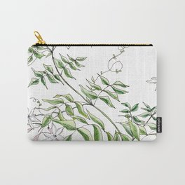 Jasmine Flower Illustration Carry-All Pouch