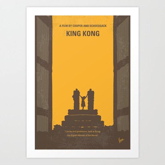No133 My KING KONG minimal movie poster Art Print