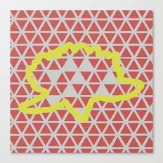 Geometric vs. Organic  Canvas Print