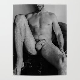 Relaxed Male Nude Poster