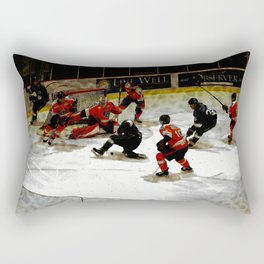 The End Zone - Ice Hockey Game Rectangular Pillow