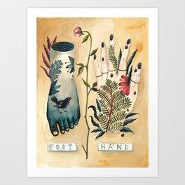 Beautiful Us- Foot & Hand Art Print
