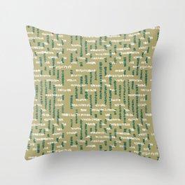 Tribal Maze Throw Pillow