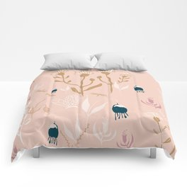 Magic Garden - Pink and Gold Comforters