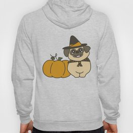 Pug-kin Patch Witch Hoody
