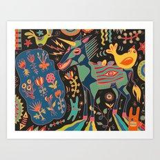 Unicorn Babble Art Print