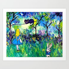 Alice in Wonderland Monet-style Art Print