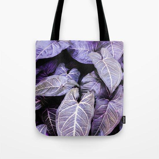 Jungle leaf - amethyst Tote Bag