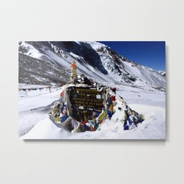 Thorung La Pass, Annapurna Circuit, Nepal Metal Print