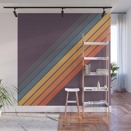 Classic 70s Style Retro Stripes - Dalana Wall Mural