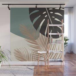 Minimal Monstera Palm Finesse #1 #tropical #decor #art #society6 Wall Mural