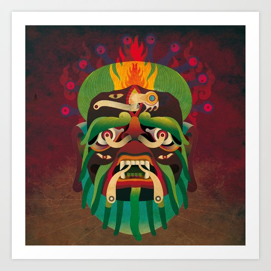 Gongbuhufashen Art Print