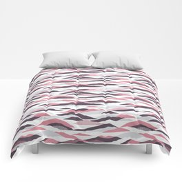 Abstract mountains pattern Comforters