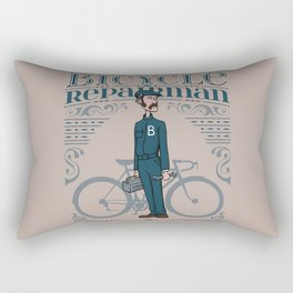 Bicycle Repairman Rectangular Pillow