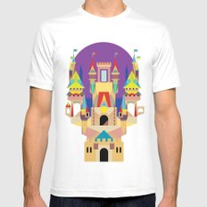 castle  Mens Fitted Tee MEDIUM White