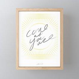 JOHN 6:37 Framed Mini Art Print