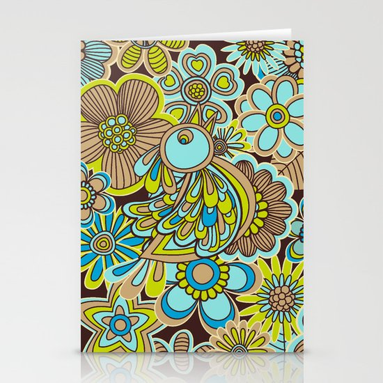 welcome birds to...(brown).  Stationery Cards