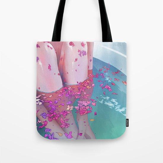 Flower Bath 4 Tote Bag