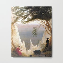 Caspar David Friedrich - Chalk Cliffs on Rügen Metal Print