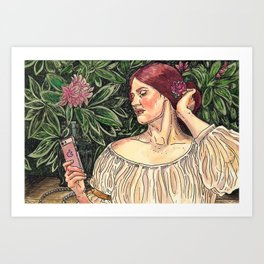 The Selfie Art Print