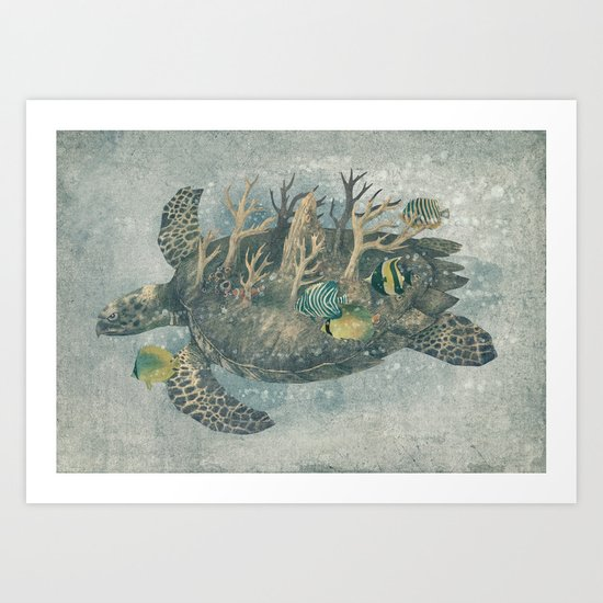 Coral Camouflage  Art Print
