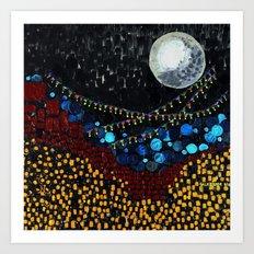 :: Veranda Moon :: Art Print