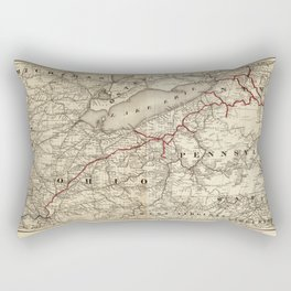 Map of the Erie Railroad (1869) Rectangular Pillow