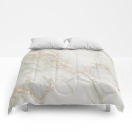 Marble Love Bronze Metallic Comforters