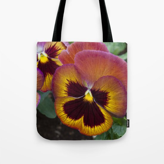 Pansy Painted Tote Bag