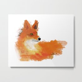 Fox in a watercolour style illustration Metal Print