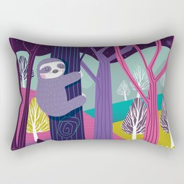 Sloth in the woods Rectangular Pillow