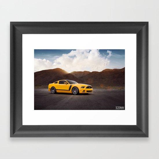 Ford Mustang Boss 302 Framed Art Print