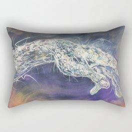 God and human Rectangular Pillow