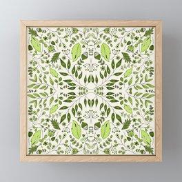Floral Mix – Green Framed Mini Art Print