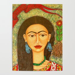 My homage to Frida Poster