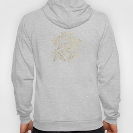 Paper Airplanes Faux Gold on Grey Hoody